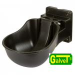 Plastic drinking trough K50, black